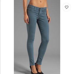 True Religion Halle Skinny Jeans Slate Blue 25